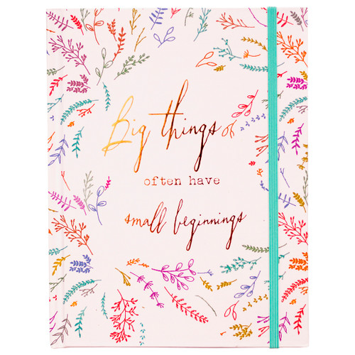 """Big Things Hardcover Journal, 8'x6"""", 96 Lined Sheets"""