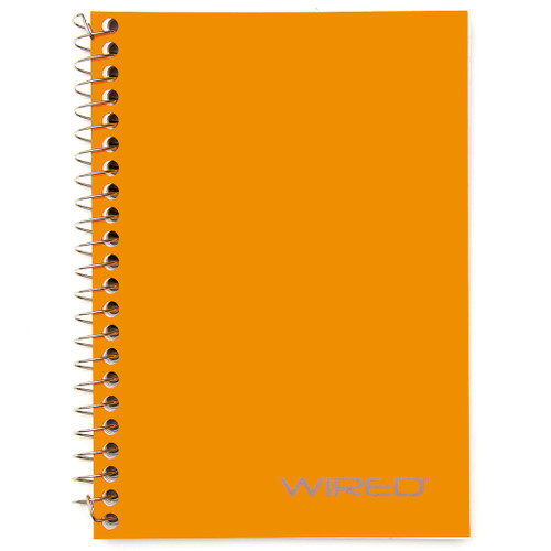 """WIRED® Personal Wirebound Notebook, Heavyweight Paper, College Rule, 7"""" x 5"""",  100 Sheets"""