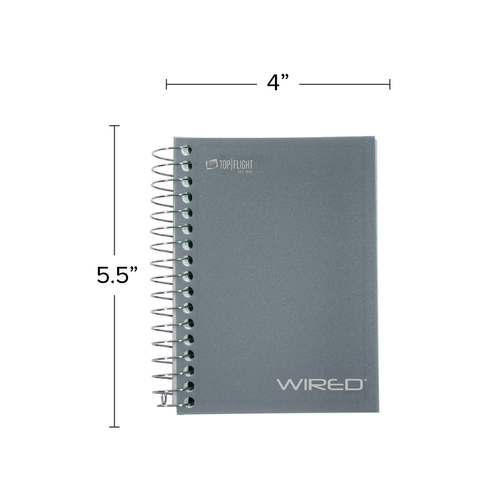 WIRED® Chub Wirebound Notebook, Heavyweight Paper, College Rule, 180 Sheets