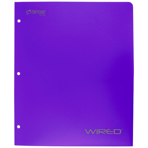 WIRED® 2-Pocket Poly Folder