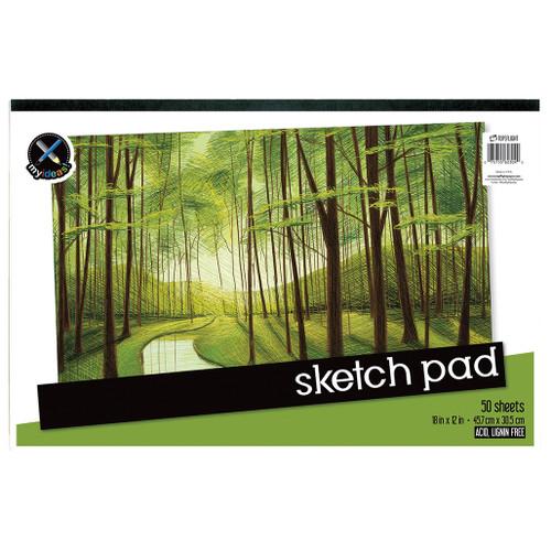 "My Ideas® Sketch Pad, 18"" x 12"", 50 Sheets"