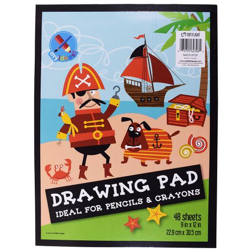 """My Ideas® Drawing Pad, Pencils & Crayons, 9"""" x 12"""" 48 Sheets"""