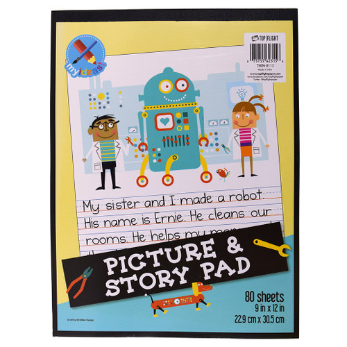 """My Ideas® Picture Story Pad, 9""""x12"""", 80 Sheets"""