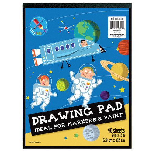 """My Ideas® Drawing Pad, Wet Media, Markers & Paint, 9"""" x 12"""", 40 Sheets"""