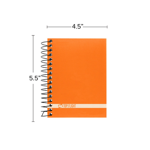 """Boss® Poly Cover Wirebound Chub Notebook, Narrow Rule, 5.5"""" x 4.5"""", 180 Sheets"""