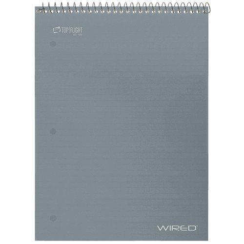 WIRED® Top Wire Poly Notebook, College Ruled, 70 Sheets