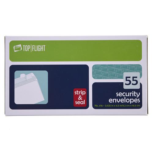 Strip & Seal Security Envelopes, 6 3/4, Boxed, 65 per Box