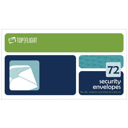 Security Envelopes, 6 3/4, Boxed, 72 per Box