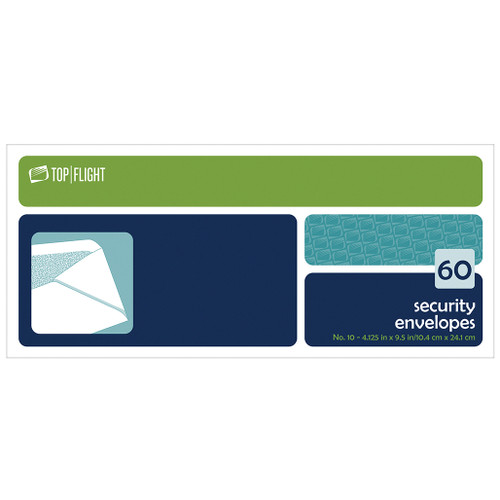 Security Envelopes, #10, Boxed, 60 per Box