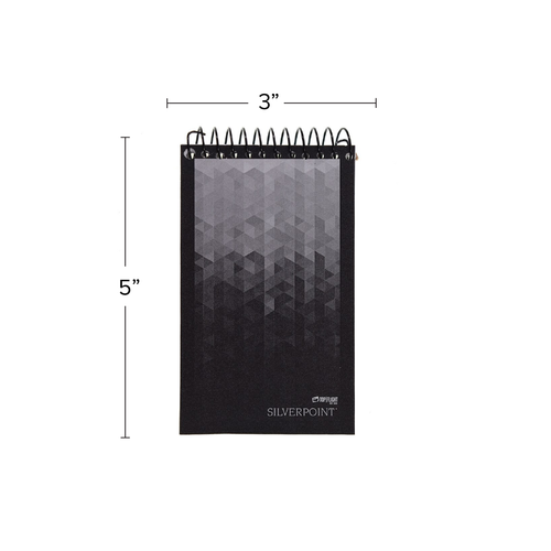 """Silverpoint® Memo Book, Top Spiral Wirebound, 3"""" x 5"""",  Narrow Rule, 80 Sheets"""