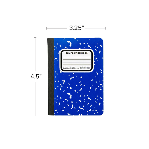 "Mini Composition Book,  4.5"" x 3.25"", Narrow Rule, 80 Sheets"