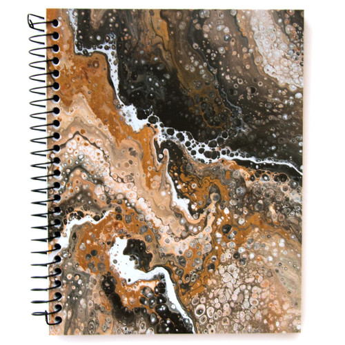 """Lily & Huck Black & Brown Notebook, 140 Sheets, 8.25"""" x 6.5"""""""