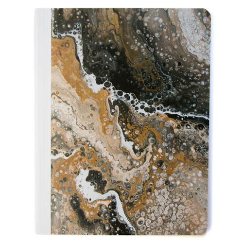 Lily & Huck Marbled Black & Brown Composition Book, Wide Rule, 80 Sheets