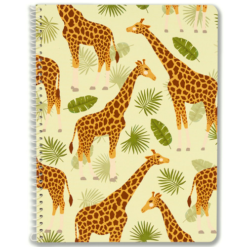 Adorable Animals Giraffe Wirebound Notebook, Wide Rule, 70 Sheets, Soft Touch Cover