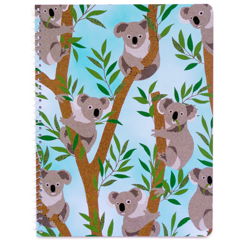 Adorable Animals Koala Wirebound Notebook, Wide Rule, 70 Sheets, Soft Touch Cover