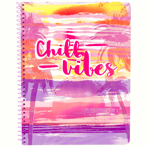Hawaiian Vibe Chill Vibes Wirebound Notebook, Wide Rule, 70 Sheets