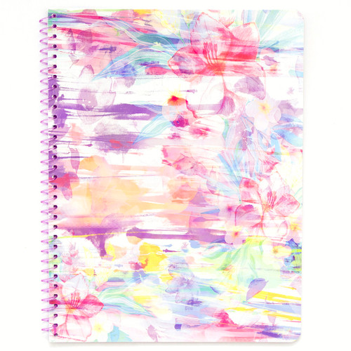 Hawaiian Vibe Floral Wirebound Notebook, Wide Rule, 70 Sheets
