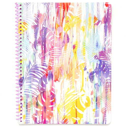 Hawaiian Vibe Palm Leaves Wirebound Notebook, Wide Rule, 70 Sheets