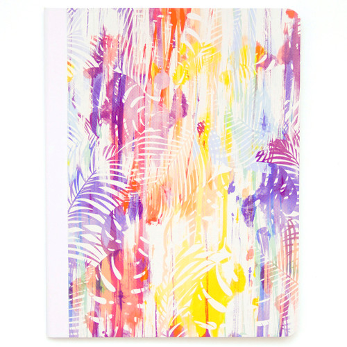 Hawaiian Vibe Palm Leaves Composition Book, Wide Rule, 80 Sheets
