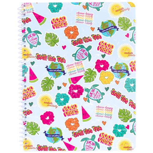Uptown Girl Collage Wirebound Notebook, Wide Rule, 70 Sheets