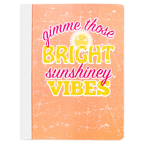 Uptown Girl Sunshiney Vibes Composition Book, Wide Rule, 80 Sheets