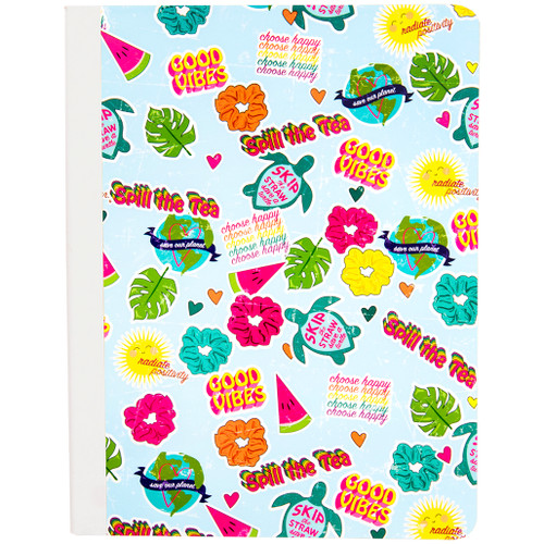 Uptown Girl Collage Composition Book, Wide Rule, 80 Sheets