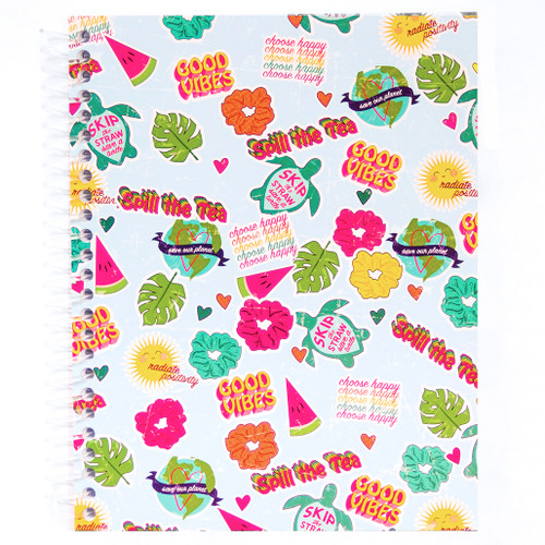 Uptown Girl Collage Wirebound Journal Notebook, 140 Color Edge Sheets