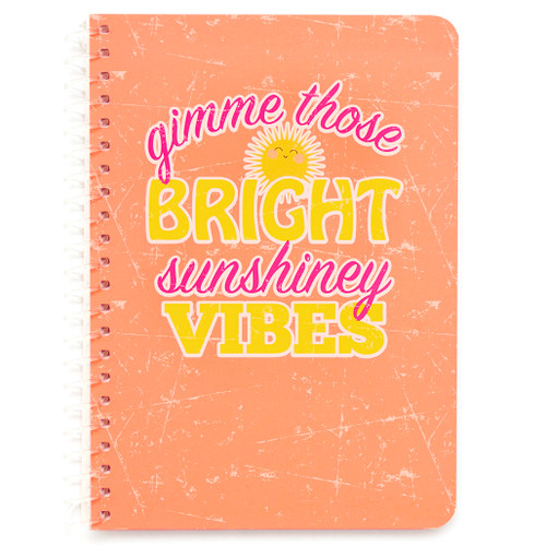 """Uptown Girl Sunshiney Vibes Personal Wirebound Notebook, College Rule, 7"""" x 5"""", 100 Sheets"""