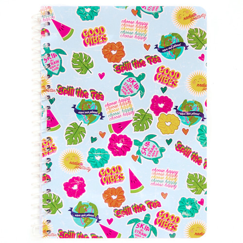 """Uptown Girl Collage Personal Wirebound Notebook, College Rule, 7"""" x 5"""", 100 Sheets"""