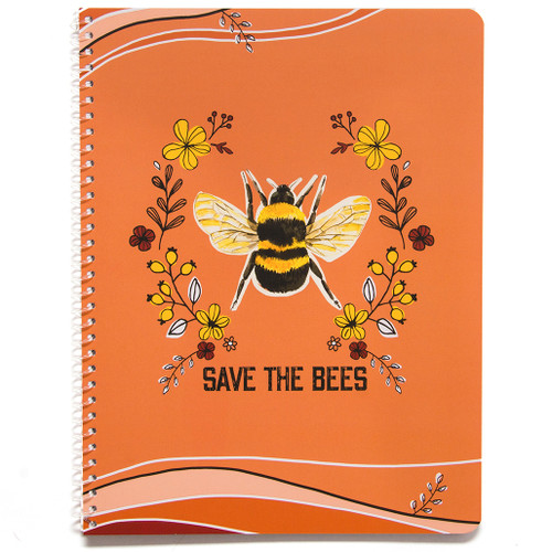 Planet Love Save the Bees Wirebound Notebook, Wide Rule, 70 Sheets