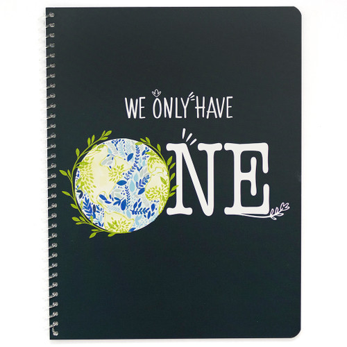 Planet Love We Only Have One Wirebound Notebook, Wide Rule, 70 Sheets