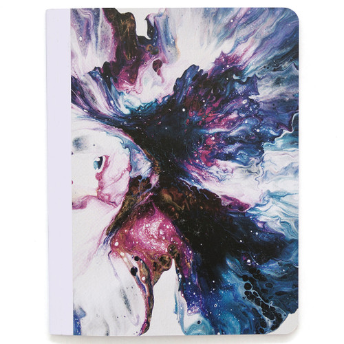 Lily & Huck Purple Swirl Composition Book, Hard Vinyl Cover, 80 Sheets