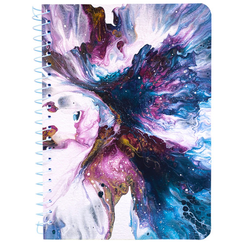 """Lily & Huck Purple Swirl Personal Wirebound Notebook, Hard Vinyl Cover, College Rule, 7"""" x 5"""", 100 Sheets"""