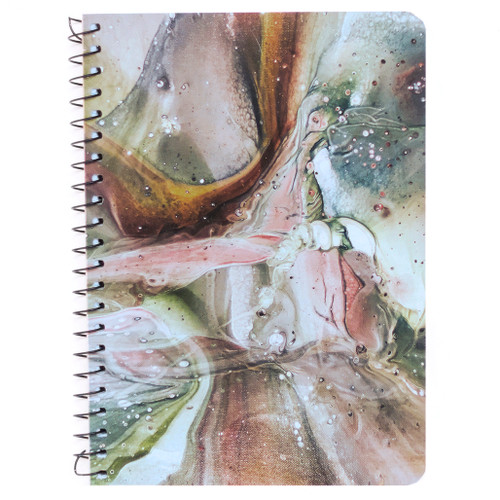 """Lily & Huck Pink & Brown Marble Personal Wirebound Notebook, Hard Vinyl Cover, College Rule, 7"""" x 5"""", 100 Sheets"""