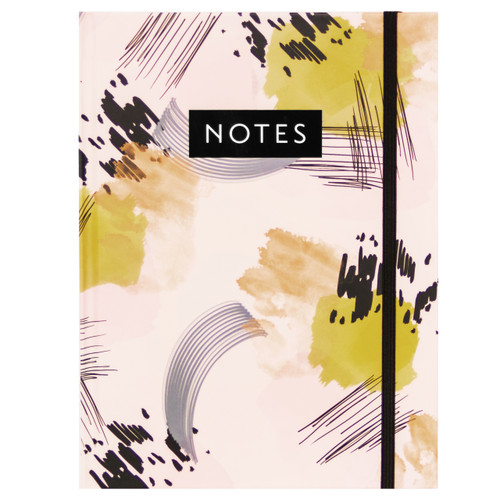 Abstract Painting Hardcover Casebound Journal w/ bungee closure, Ruled, 96 Sheets