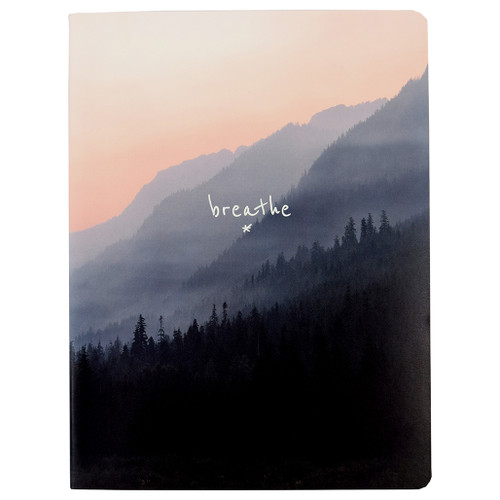 Breathe Soft Cover Journal, Ruled, Pink Edge Paper, 120 Sheets