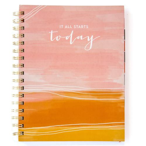 It Starts Today 12-month Undated Spiral Planner