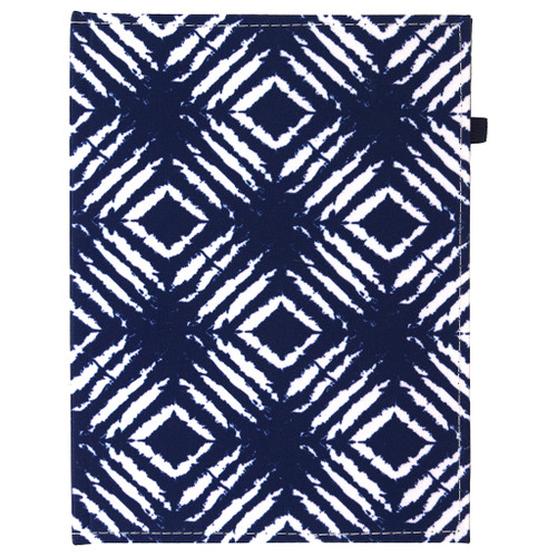 Indigo Fabric Hardcover Casebound Journal, Lined, 96 Sheets
