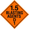 Blasting Agent 1.5D Magnetic Placard