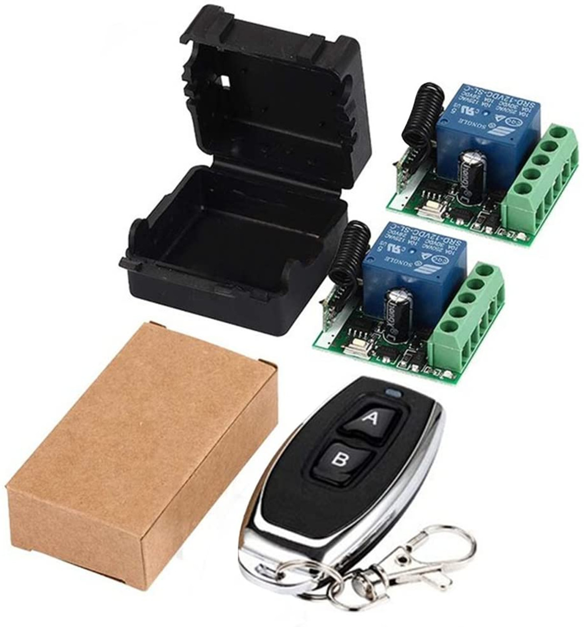 DC 12V 433MHz Wireless Remote Control With Switch Relay Receiver Transmitter