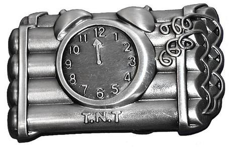 TNT Dynamite Bomb Belt Buckle