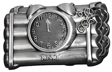 TNT Dynamite Bomb Belt Buckle