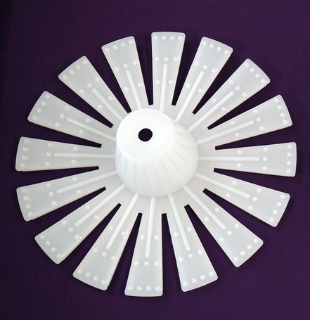 "13"" Spider Stem Plug (white) (25 per box)"