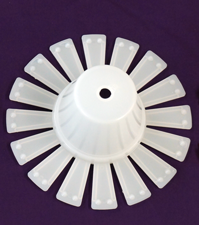 "8"" Spider Stem Plug (white) (100 per box)"