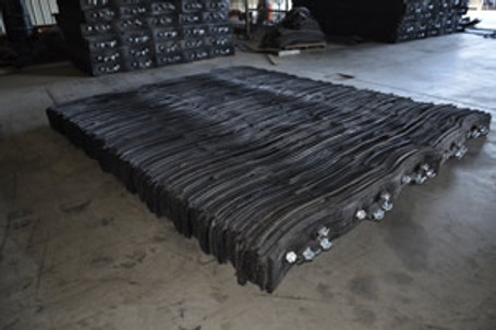 """Rubber Blasting Mat Tread Style 10"""" Thick 10' X 12'"""