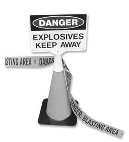 Safety Cone Adaptor Holds Signs, Flags, Tape