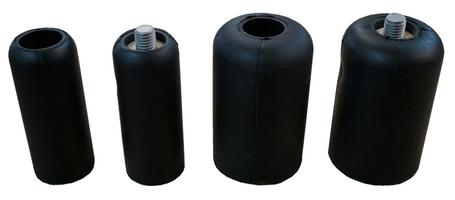 3 inch Rubber Plug with 5/8 inch Thread
