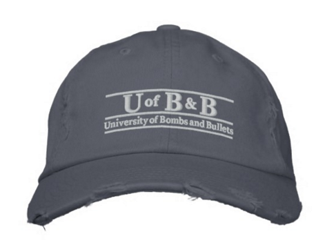 University of Bombs & Bullets Distressed Hat