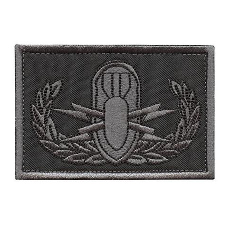 SUBDUED ACU EOD EXPLOSIVE ORDNANCE DISPOSAL BOMB SQUAD ARMY TACTICAL HOOK-AND-LOOP PATCH