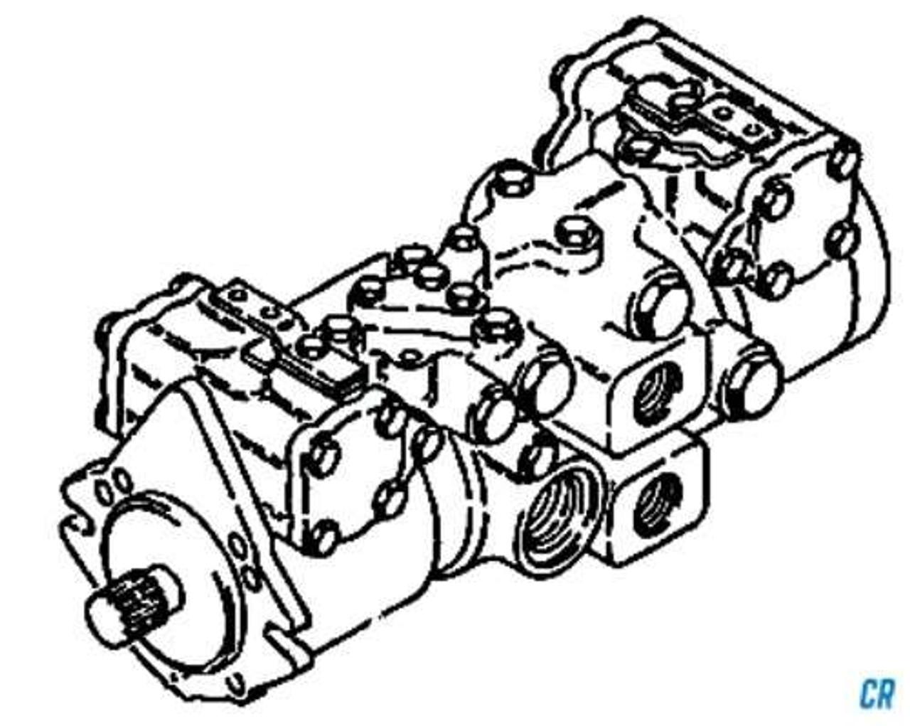 Reman Hydrostatic Drive Pump for Bobcat 40 Skidsteer